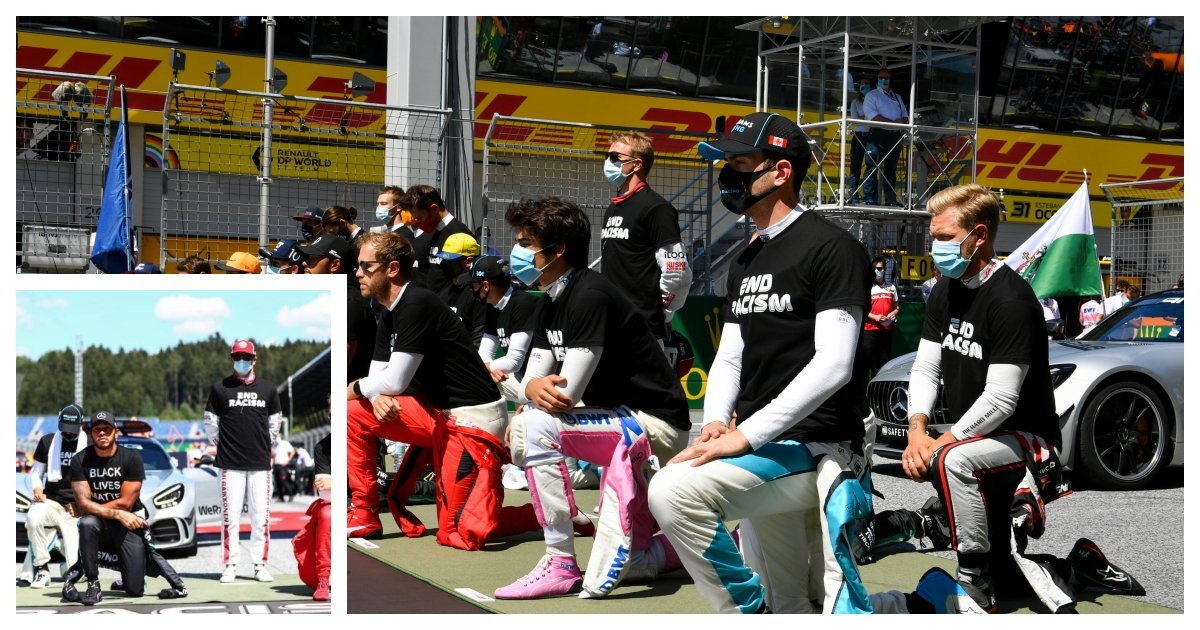 collage 18.jpg?resize=1200,630 - 6 Formula One Drivers Refuse to Take A Knee Before the First Race of the Season