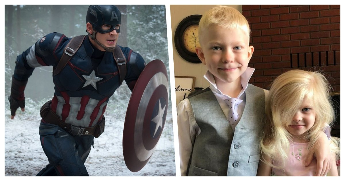 collage 44.jpg?resize=574,582 - Chris Evans Gifts 6-Year-Old Boy Who Saved His Sister The Authentic Captain America Shield