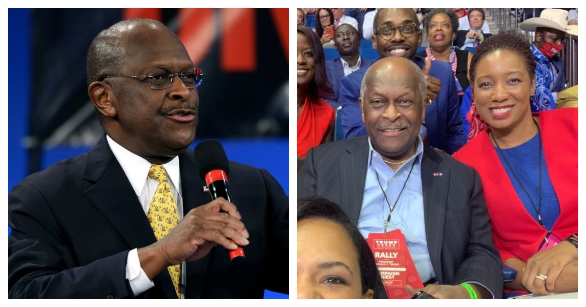 collage 79.jpg?resize=1200,630 - Former Presidential Candidate Herman Cain Passes Away From Covid-19 At Age 74