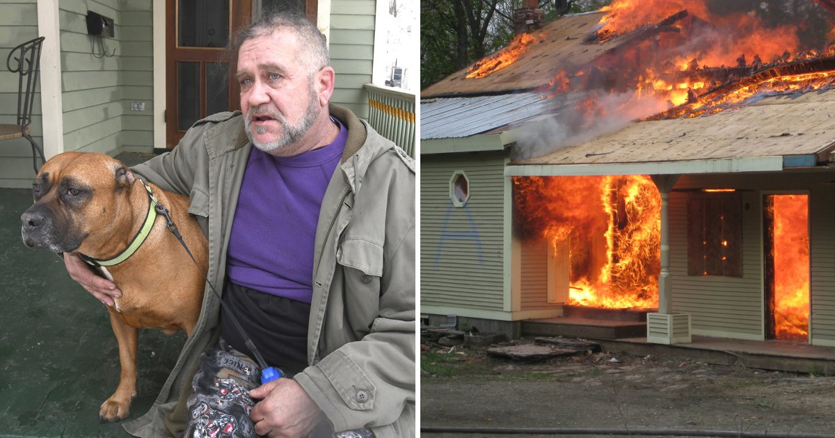 dog saves owner.jpg?resize=1200,630 - Brave Dog Saves Owner From Disasterous House Fire