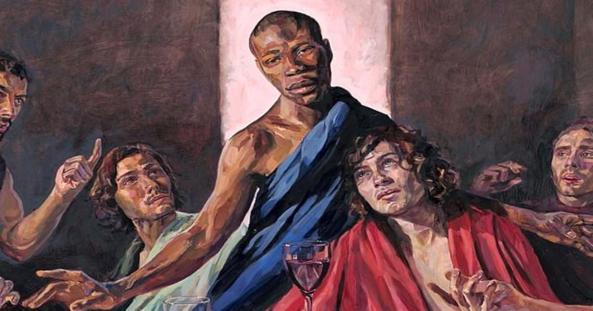 ec8db8eb84ac 1.jpg?resize=1200,630 - St Albans Cathedral Allows Black Jesus To Be Painted In Their Last Supper