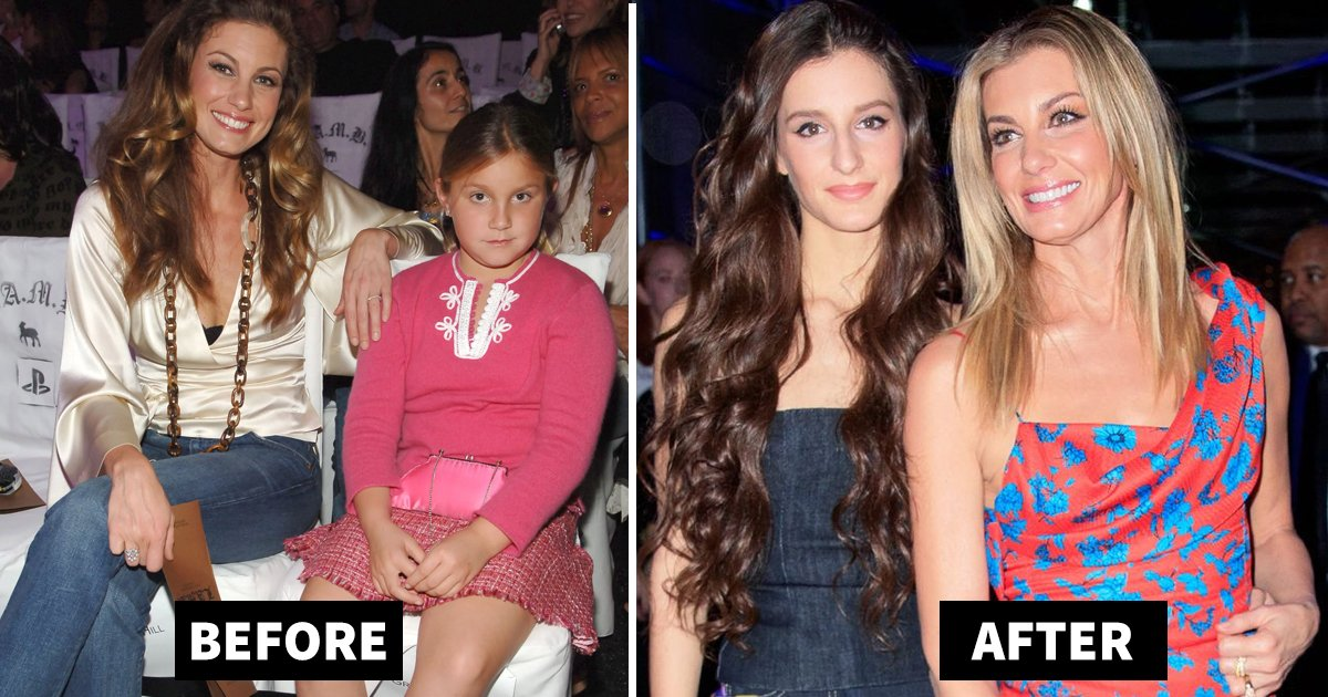 faith hills daughter audrey.jpg?resize=1200,630 - Faith Hill's Daughter Audrey Is Her Mini Version At Versace Fashion Show