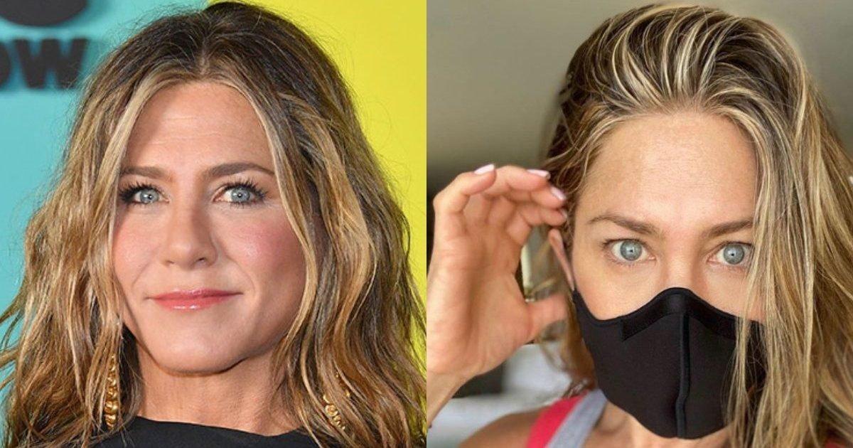 jennifer aniston mask e1593620578349.jpg?resize=412,232 - Port du masque : Jennifer Aniston a adressé un message aux Américains