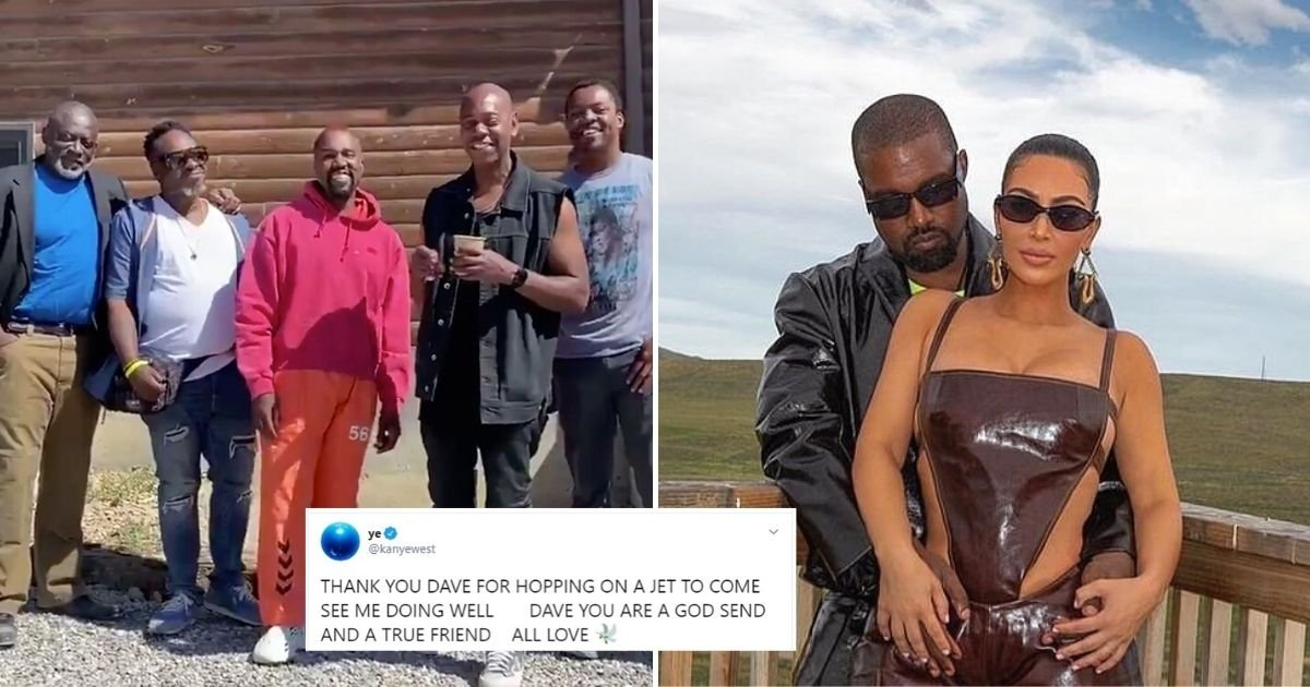 kanye5 1.jpg?resize=1200,630 - Comedian Dave Chappelle Flew To Wyoming To Visit Kanye West After Rapper's Twitter Rampage