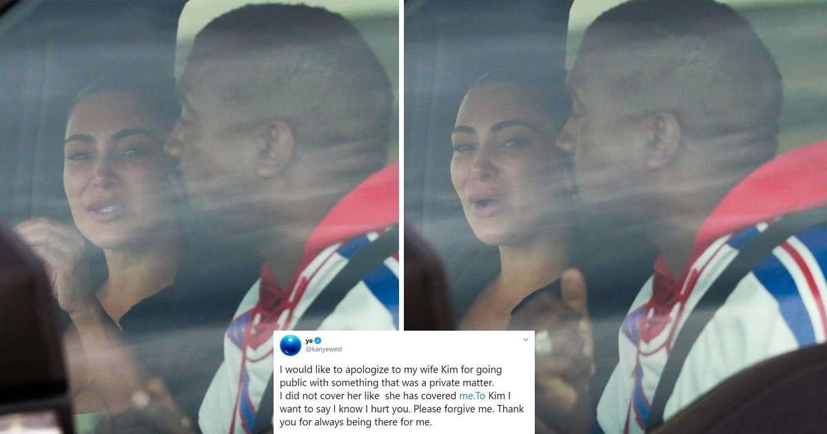kim kanye.jpg?resize=1200,630 - Kim Kardashian Breaks Down In Tears As Kanye West Begs For Forgiveness In Wyoming