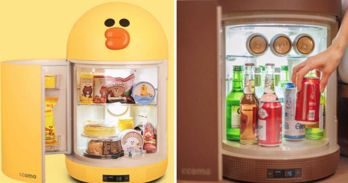 """line.jpg?resize=412,232 - """"작고 귀여워!""""...'프로자취러'들에게 선물하기 딱인 라인프렌즈 미니 냉장고"""