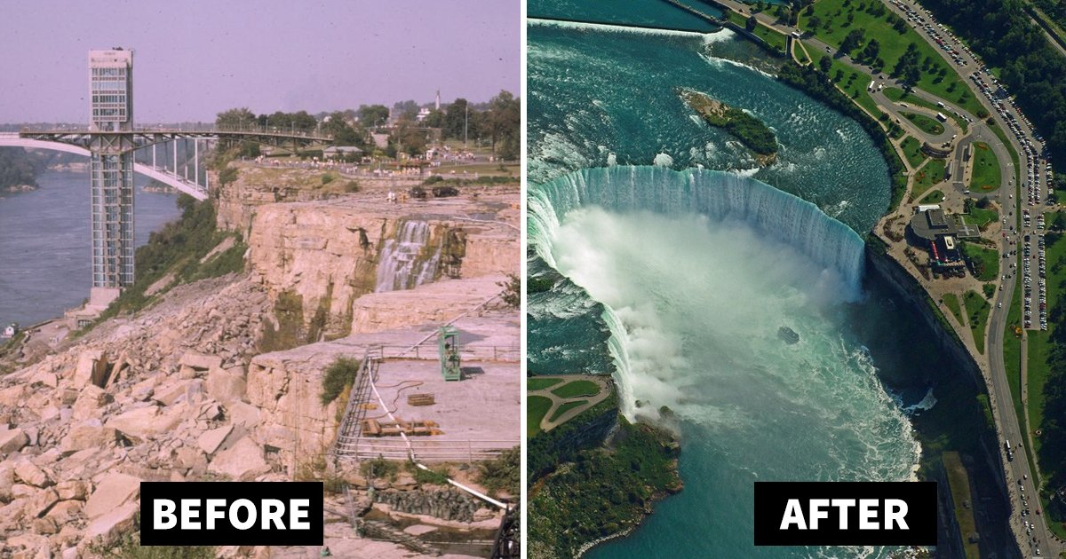 niagara falls drained.jpg?resize=1200,630 - Niagara Falls Drained: The Famous Natural Wonder Gets Dewatered