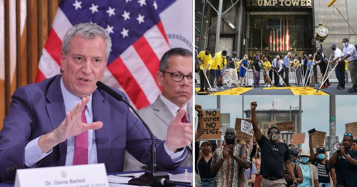 "nyc mayor.jpg?resize=1200,630 - NYC Mayor Bans All Public Gatherings Till October Except ""Black Lives Matter"" Protests "