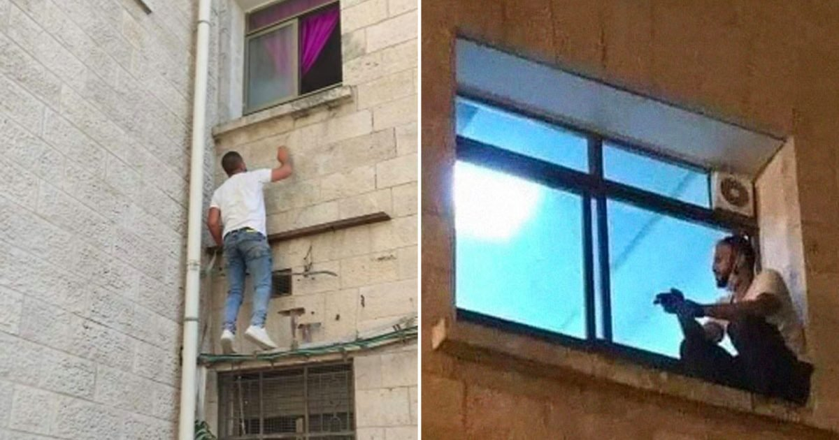palestinian man climbs hospital wall to be by mom dying e1595631372843.jpg?resize=1200,630 - Covid-19 : Ce jeune Palestinien escalade tous les jours un mur pour voir sa mère dans sa chambre d'hôpital