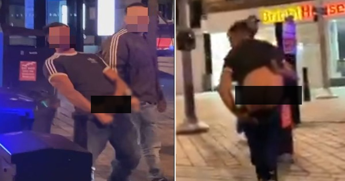 pervert penis.jpg?resize=412,232 - Grim Footage Of Scottish Creeps Abusing And Flashing Teen Girls Goes Viral