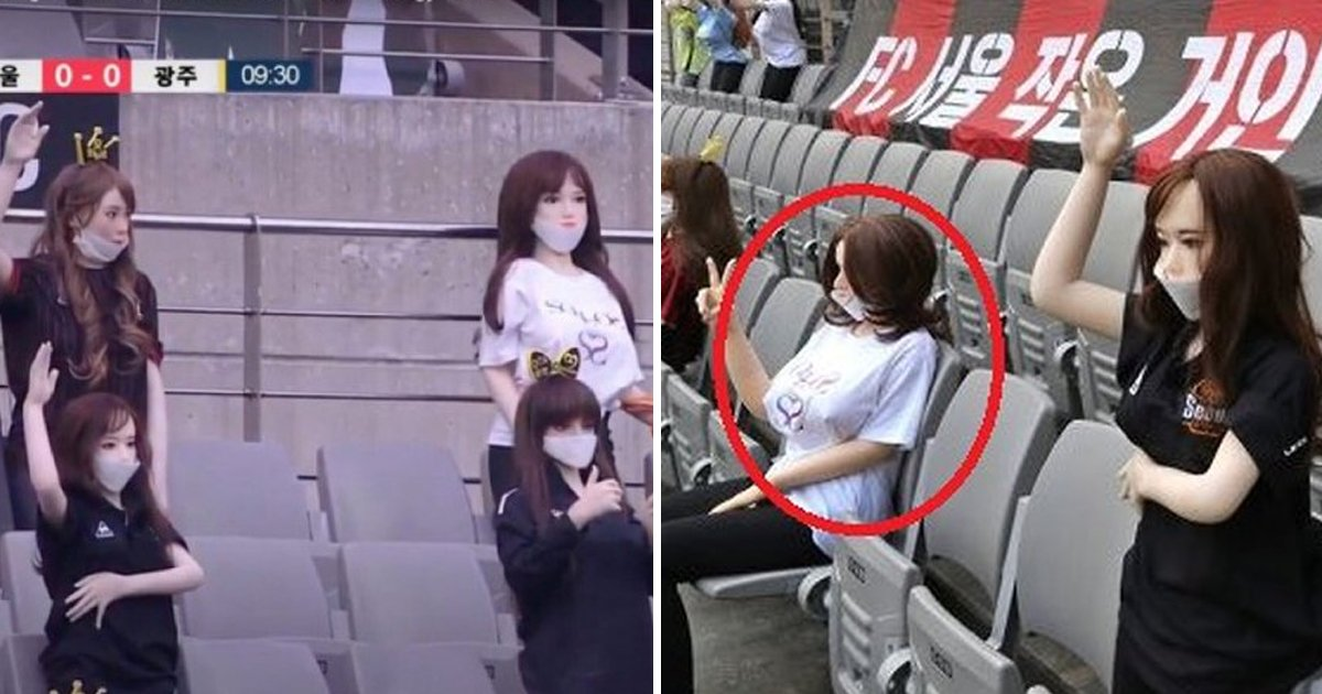 seoul fc sex dolls.jpg?resize=1200,630 - South Korean Football Team Replaces Fans In Stands With Sex Dolls