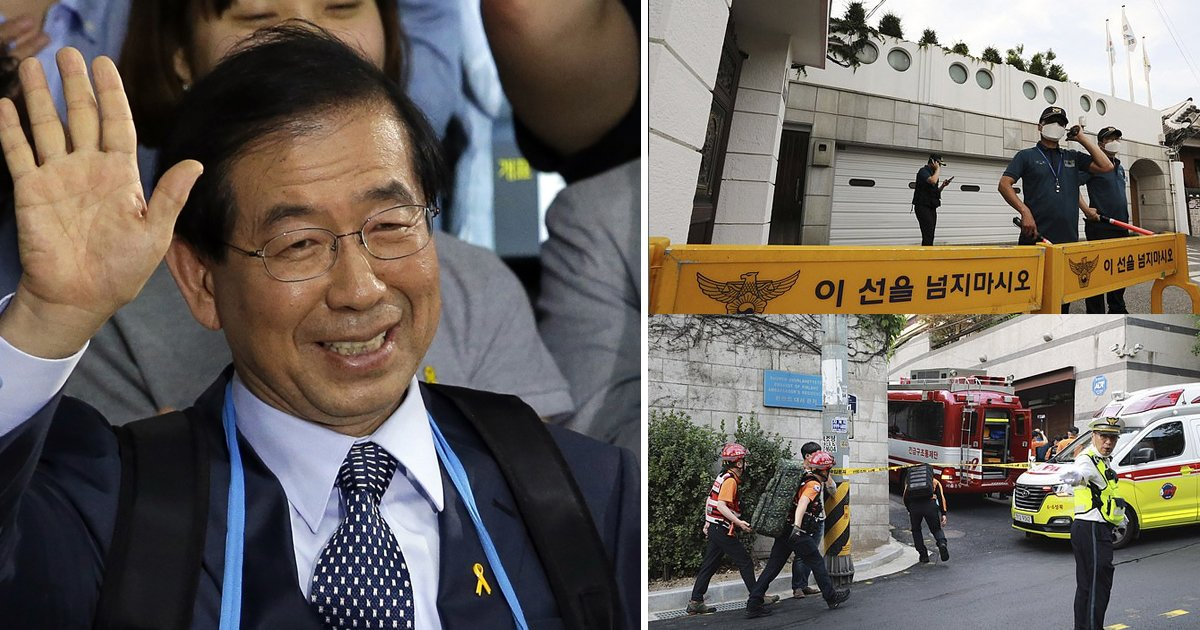 seoul mayor.jpg?resize=1200,630 - Seoul's Mayor Found Dead In An Apparent Suicide After '#Metoo Allegations'