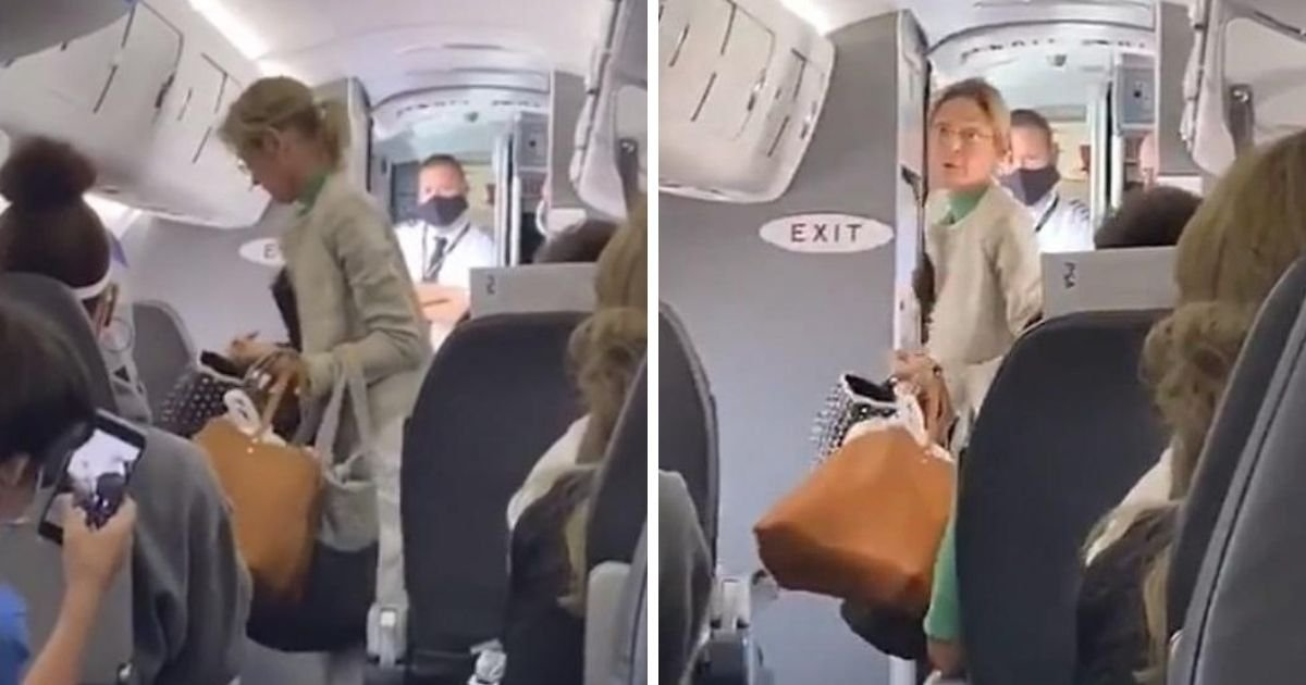 untitled design 4 13.jpg?resize=1200,630 - Woman Kicked Off Flight After Arguing With Flight Attendants And Refusing To Comply