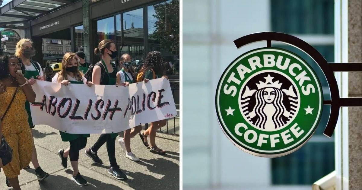 untitled design 7 1.jpg?resize=412,275 - Protesters Surrounded Starbucks And Demanded The Company Stops Funding The Police