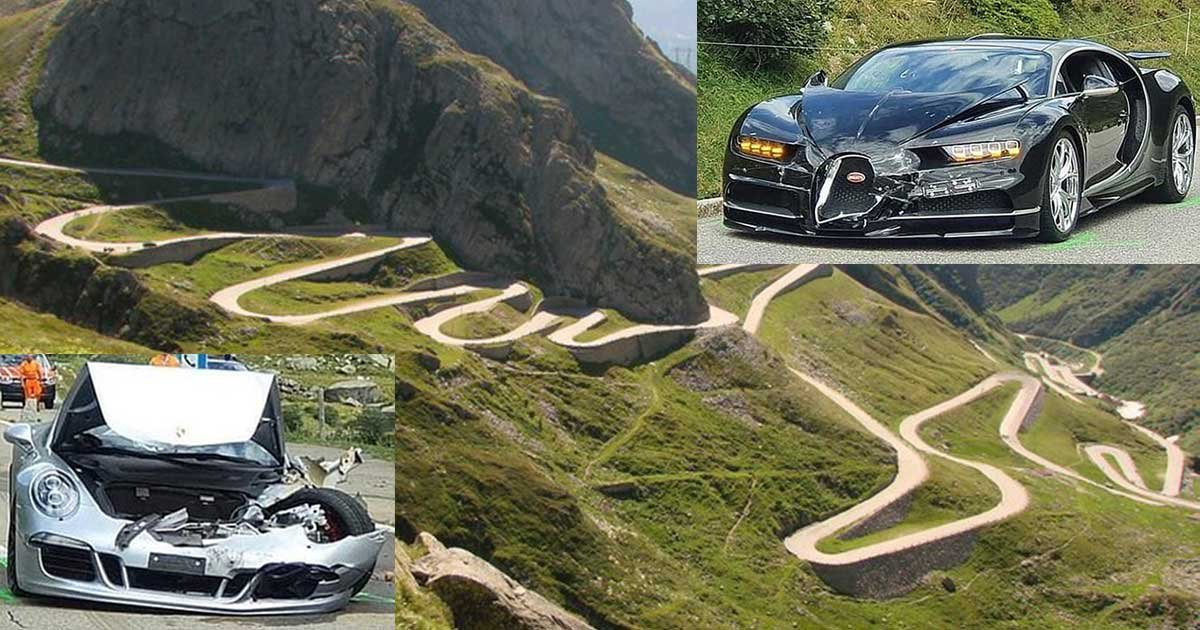 1 113.jpg?resize=1200,630 - Bugatti Chiron Crashes Into A Porsche 911 In The Swiss Alps Causing $4 Million In Damages