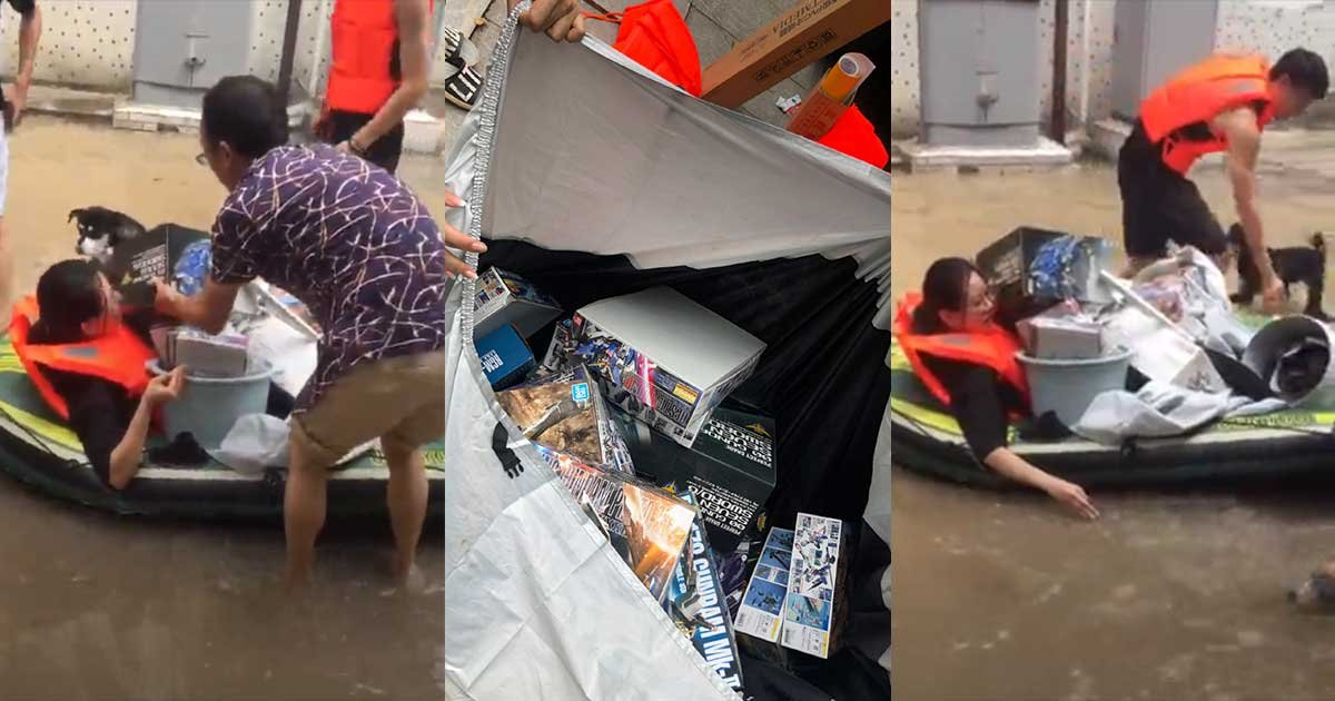 1 164.jpg?resize=1200,630 - Woman Rescues Husband's Action Figure Collection From Floods