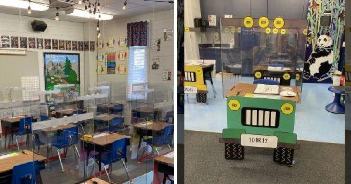 1 170.jpg?resize=1200,630 - Two Teachers Turned Their Student's Desks Into Little Jeeps To Make Social Distancing Less Scary