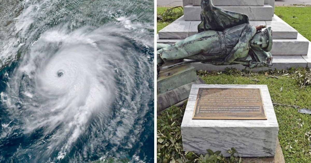 1 244.jpg?resize=1200,630 - Hurricane Laura Knocked a Confederate Monument Off Its Base Weeks After Officials Voted To Keep It In Place