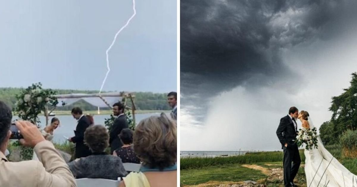 1 246.jpg?resize=1200,630 - Huge Bolt of Lightning Strikes During Wedding Ceremony Just As Groom Curses 2020