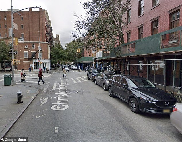 He had been with a woman and a friend outside of a bagel shop at Christopher St. in Greenwich Village when the attack occurred
