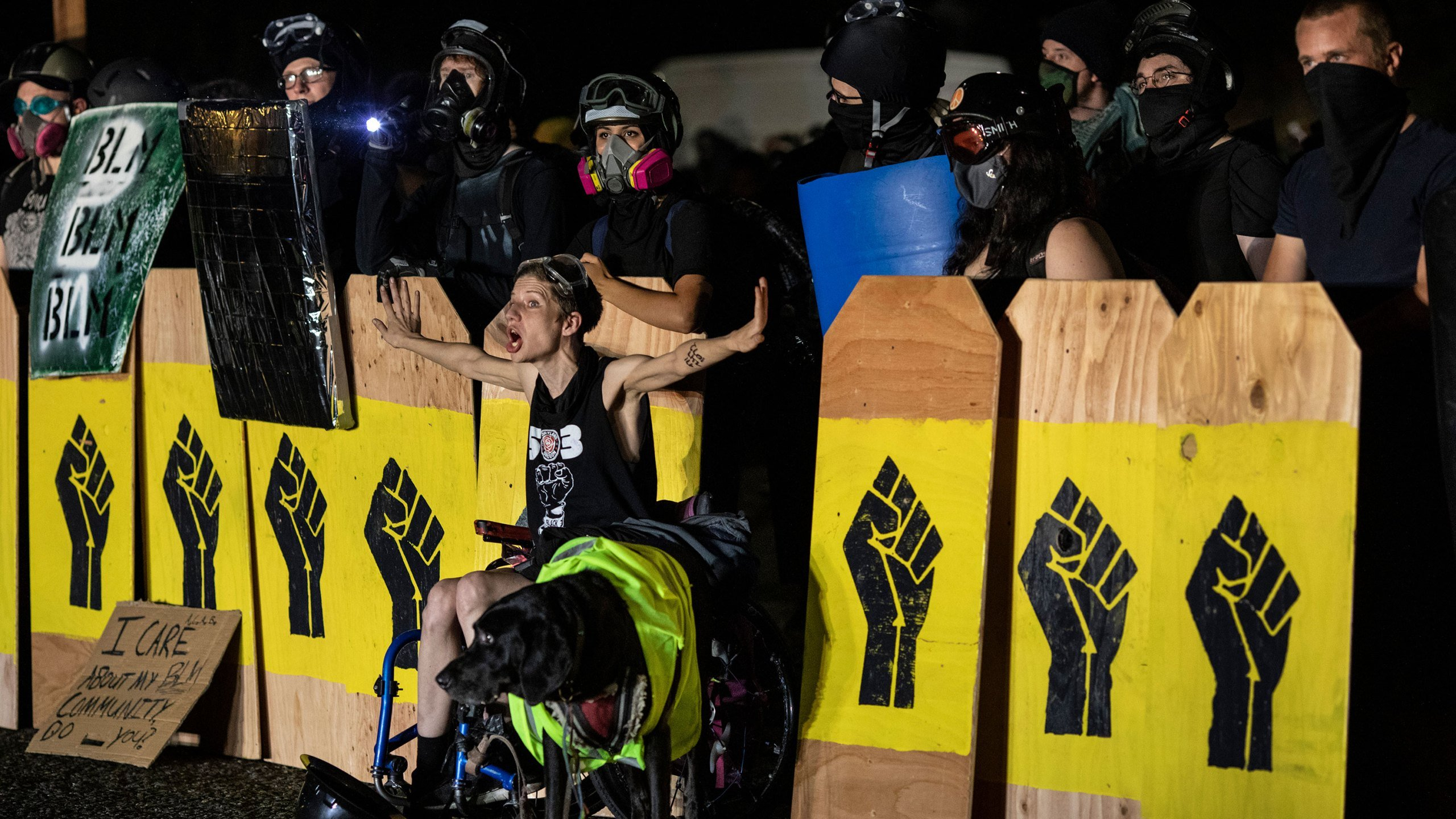 Portland officers injured after protester throws a nearly 10-pound ...