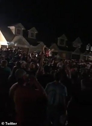 Hundreds of Georgia university students have been seen partying without masks and failing to social distance ahead of the school