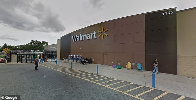 The incident occurred at this Walmart in Springfield, Massachusetts, on August 15 at 7.10pm