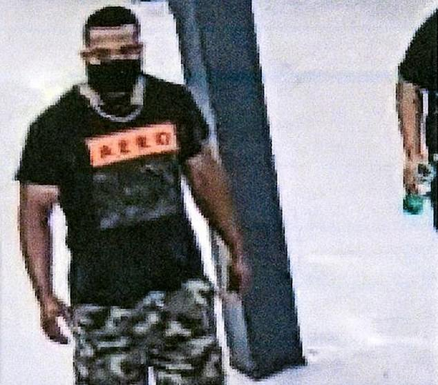 The Springfield Police Department released this surveillance image of a man who allegedly hugged shoppers at a Walmart and told them he infected them with coronavirus