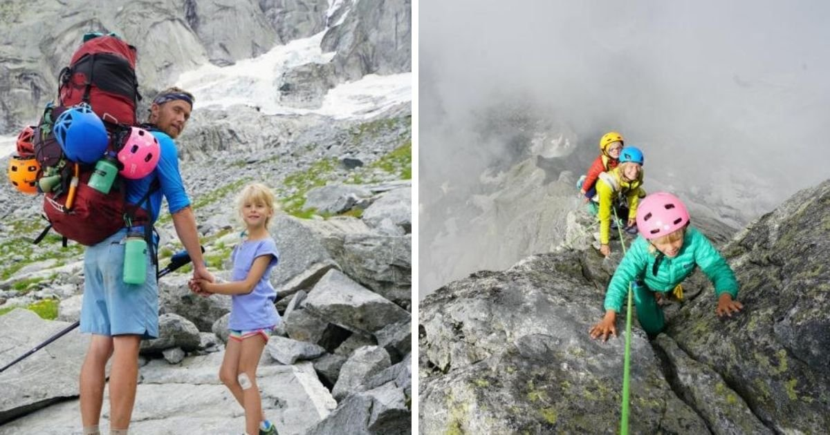 6 15.jpg?resize=1200,630 - Fearless Parents Take 3-Y.O Toddler And 7-Y.O Daughter Climbing Up 11,000 Ft. Mountain