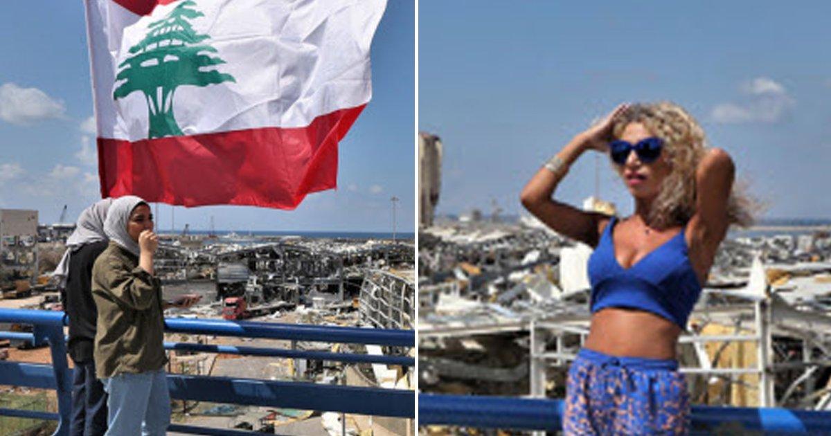 6 39.jpg?resize=1200,630 - 레바논 폭발 현장서 '비키니 인증샷' 찍어 국제적인 욕 먹고 있는 민폐 커플.jpg