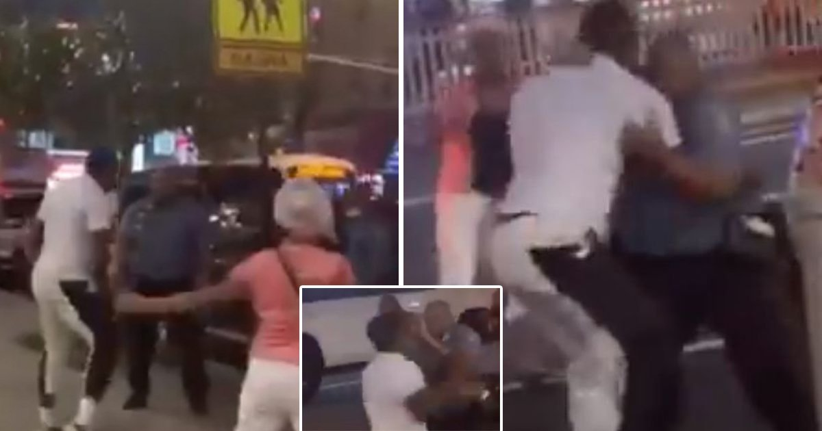 assault 1.jpg?resize=1200,630 - Man Violently Attacked Two Traffic Officers When Asked To Move His Car