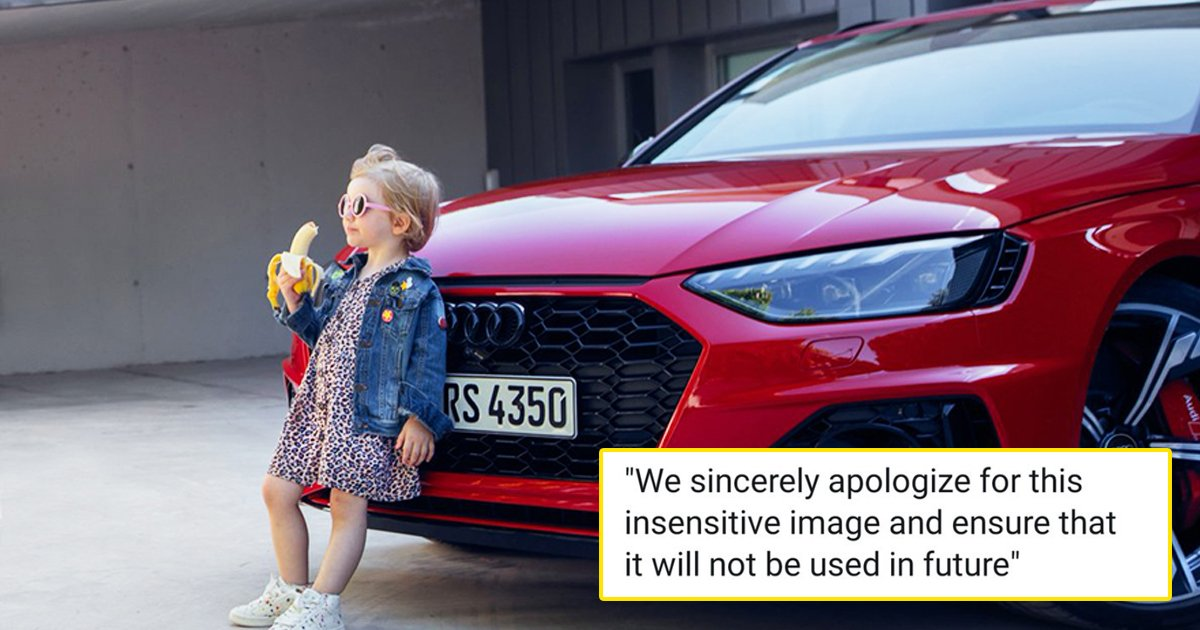 audi ad.jpg?resize=1200,630 - Audi Drops 'Insensitive' Ad Featuring Girl Leaning On Luxe Vehicle While Eating A Banana