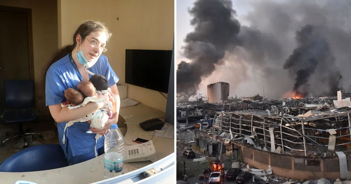 beirut.jpg?resize=1200,630 - Nurse In Beirut Turns Hero After Pulling Out 3 Newborns Alive From Hospital Rubble