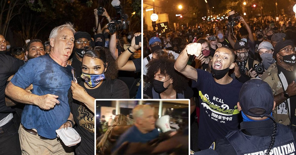 blm attack.jpg?resize=1200,630 - Senator Rand Paul Says He And His Wife Were Attacked By An Angry BLM Mob Outside The White House