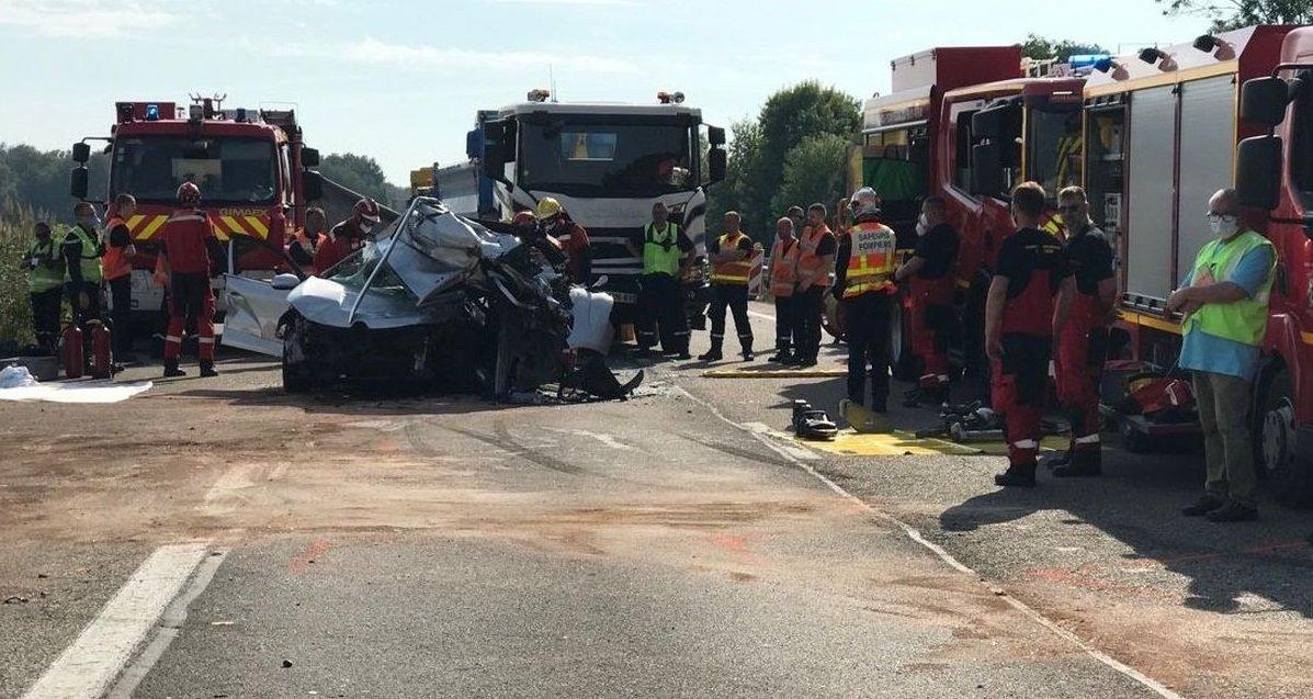 carambolage.jpg?resize=412,232 - Strasbourg: un carambolage sur l'A35 a fait un mort et dix blessés