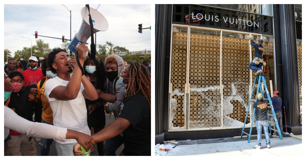 collage 32.jpg?resize=412,232 - Local Residents Face Off And Eventually Disperse Protestors In Chicago