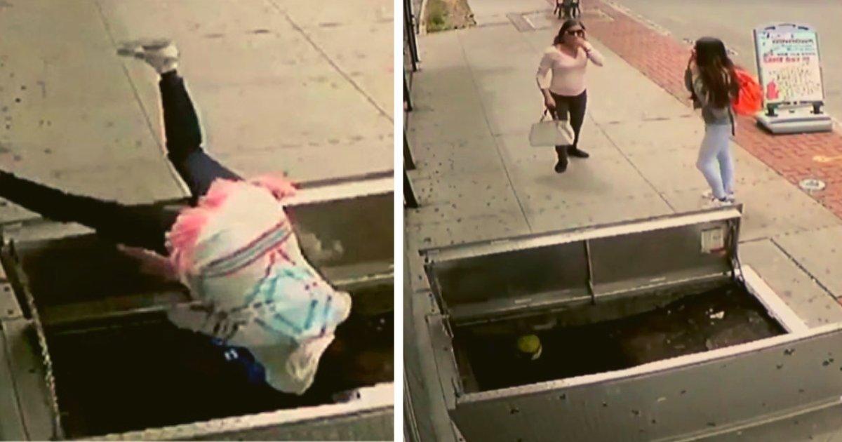 diseno sin titulo 7.png?resize=1200,630 - Mujer Se Tropieza Y Cae A Un Sótano Por Caminar Mientras Usaba Su Teléfono