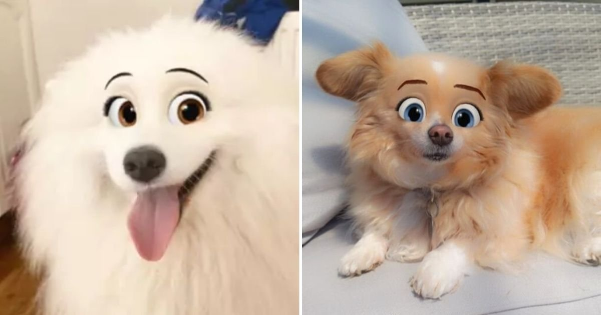 doggos.jpg?resize=412,232 - Dog Owners Use New Snapchat Filter To Make Their Pooches Look Like A Disney Character