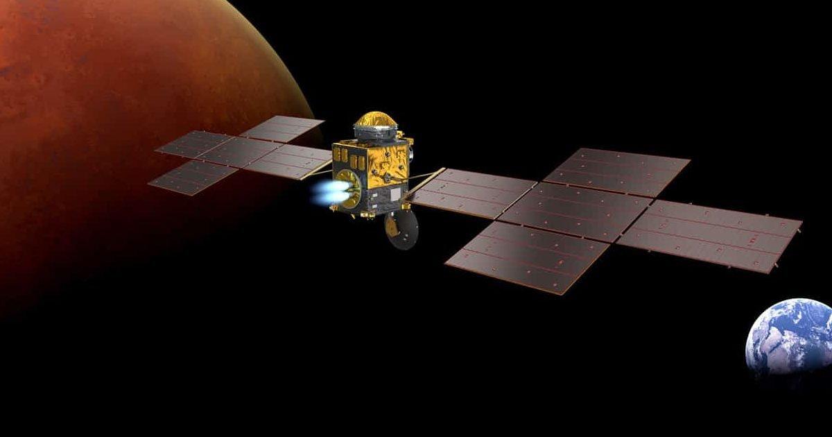 earth return orbiter e1596217192155.jpg?resize=1200,630 - Airbus va construire un énorme satellite qui ramènera sur Terre les premiers échantillons de roche martienne