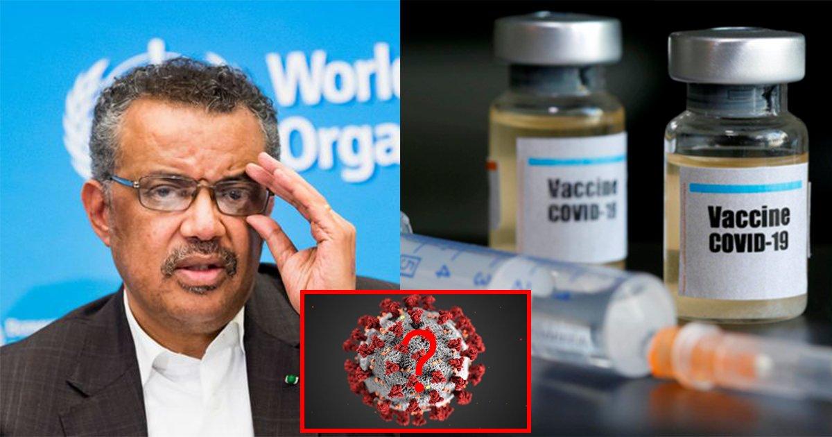 ecbd94eba19ceb8298.jpg?resize=1200,630 - ' 코로나19 종식은 없다...?' ... 세계보건기구 WHO 총장이  코로나19 백신 개발 현재 상황에 입을 열었다