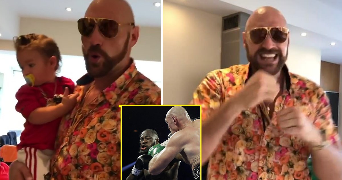racist tyson.jpg?resize=412,232 - Boxer Tyson Fury Sparks Outrage After Using Racist Slur During Singalong With Kids