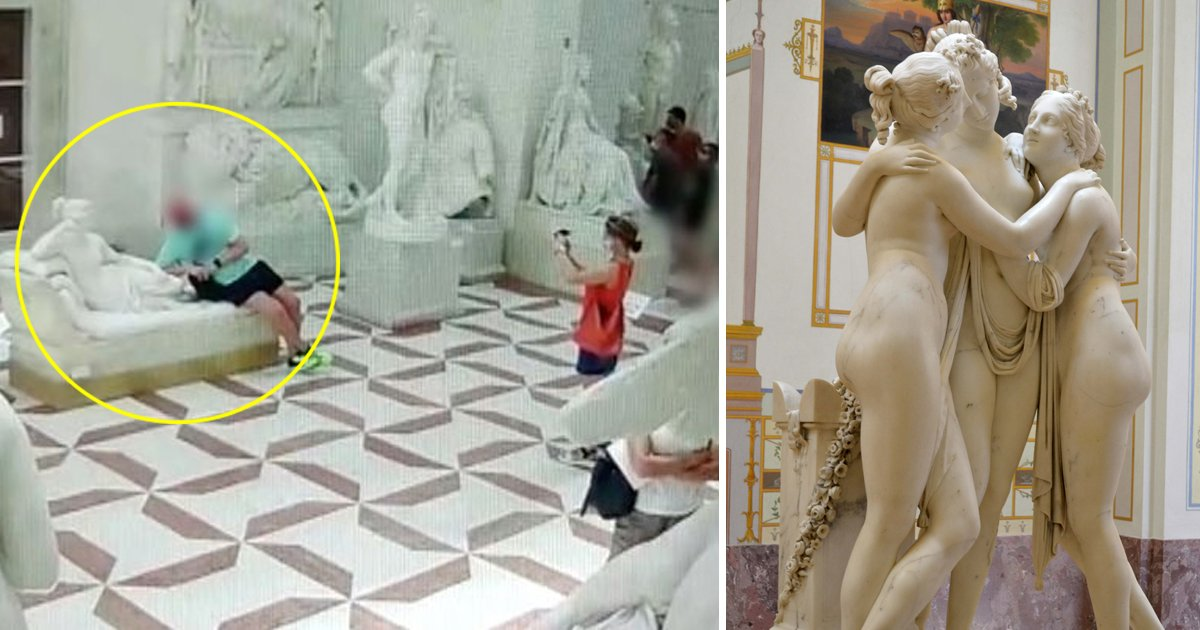 selfie.jpg?resize=1200,630 - Selfie Goes Wrong As Tourist Snaps Toes Off 200 Year Old Italian Museum Sculpture