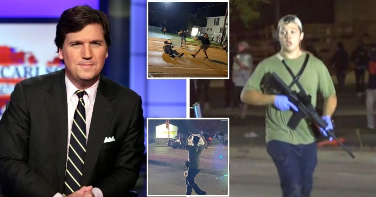 tucker5.jpg?resize=1200,630 - Fox News Host Accused Of 'Justifying Murder' By Claiming 17-Year-Old Gunman Was 'Maintaining Order When No One Else Would'