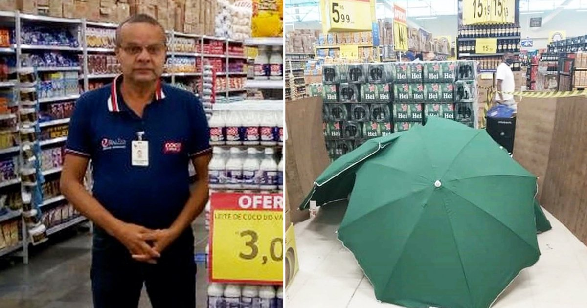 umbrella covered.jpg?resize=1200,630 - Sales Manager's Dead Body Covered By Umbrella As Store Remains Open For Business