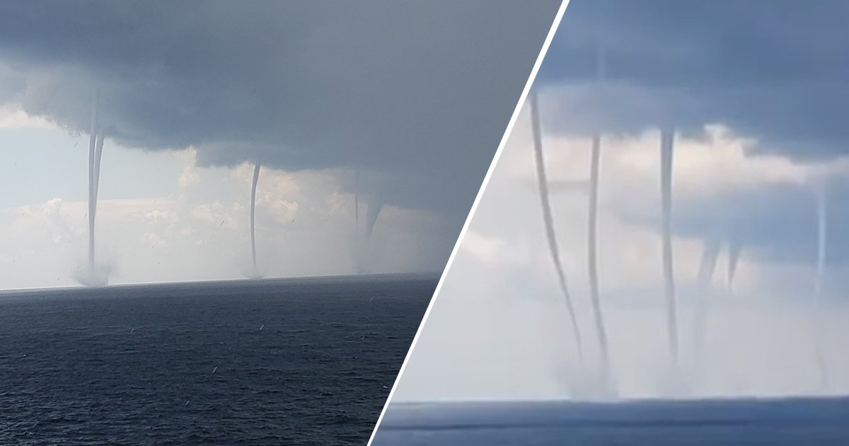 untitled 1dff.jpg?resize=1200,630 - Footage Showing Six Massive Swirling Waterspouts Captured Off The Louisiana Coast In The Gulf Of Mexico