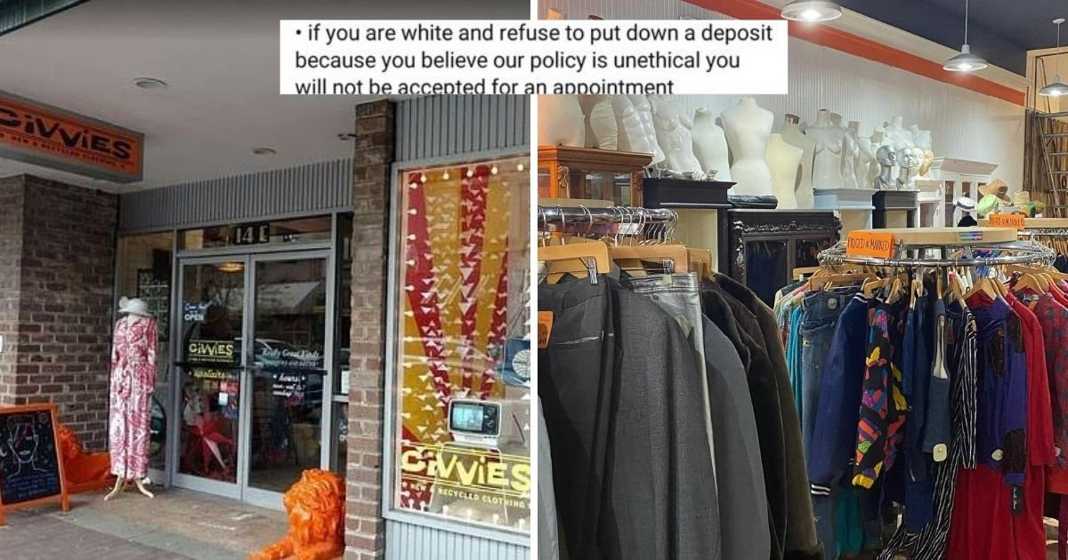 untitled design 17.jpg?resize=412,232 - Clothing Store Introduced Appointment Fee For White Customers While Waiving The Fee For People Of Color
