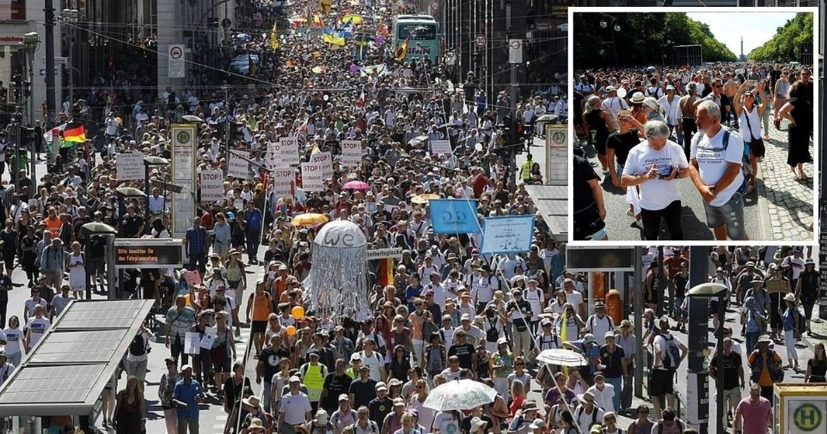 untitled design 2.jpg?resize=1200,630 - Thousands Of Protesters Demanded 'Freedom' As They Branded Coronavirus A 'False Alarm'