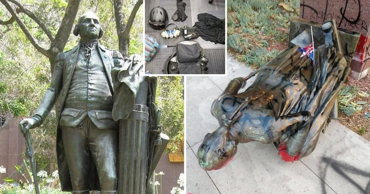 untitled design 22.jpg?resize=1200,630 - Six BLM Protesters Arrested And Named After Tearing Down George Washington Statue