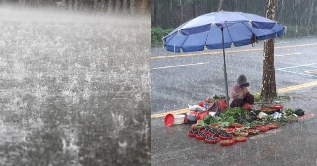 yasai.png?resize=412,232 - 大雨の中でもお金を稼ごうと採れた野菜を販売しているおばあさんが泣ける…!