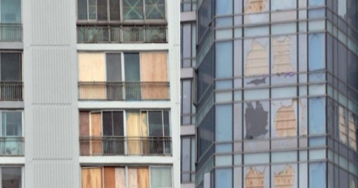 0101.png?resize=412,232 - 하이선 북상하자 파손된 유리창 임시 복구한 아파트들.jpg